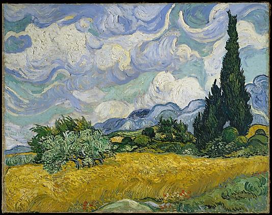 Wheat Field with Cypresses, Van Gogh wwwmetmuseum.org